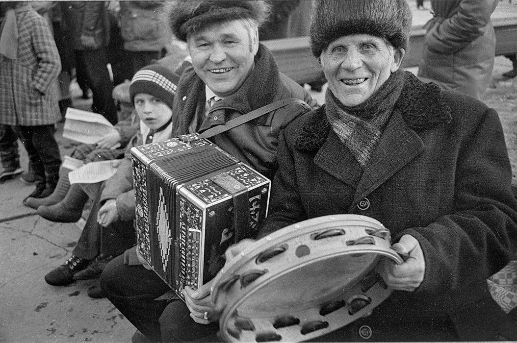 Настроение. Музыканты. Минск. Парк М.Горького. 1985год