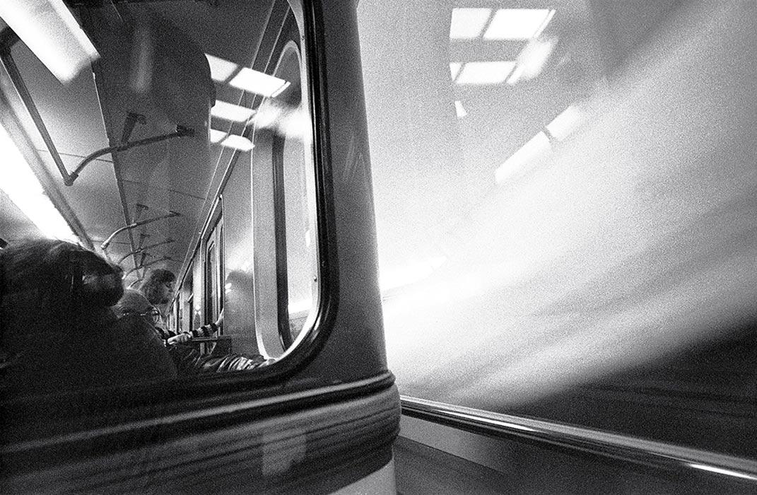 В метро. Минск 1987 год