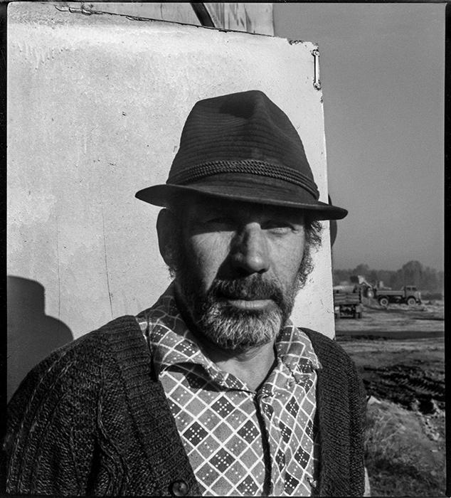Дорожный рабочий. 1984год. Строительство автодороги Брест-Москва