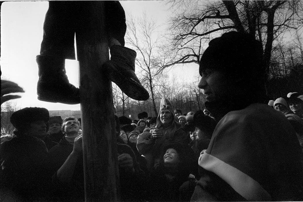 В парке М.Горького. Масленица. Минск. 1986 год