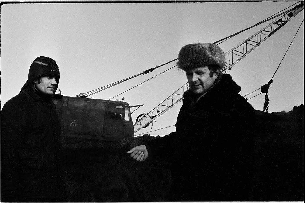 Строители автодороги Москва-Минск-Брест, рабочий и прораб. 1983год