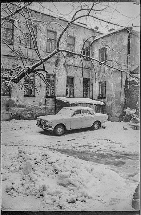 Зимой во дворе. Минск. 1986г.