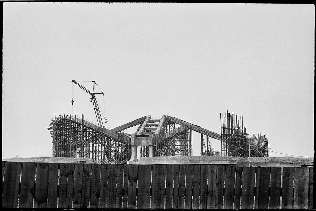 Строительство выставочного комплекса на пр-те Машерова. Минск ориент. 1985год (сейчас пр-кт Победителей)