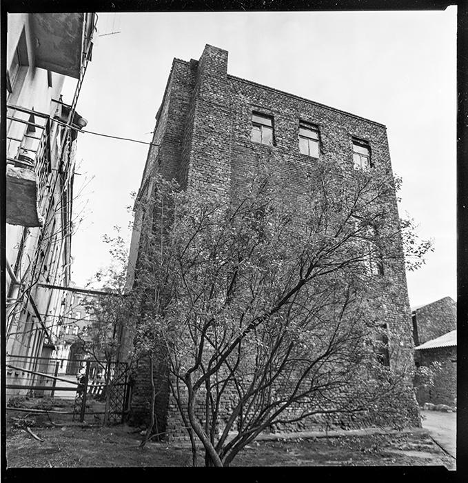 Дом во дворе дома на площади Мясникова. Минск. 1984г.