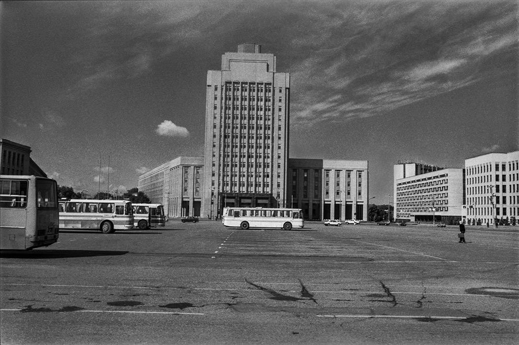 Площадь Ленина. Минск 1986 год