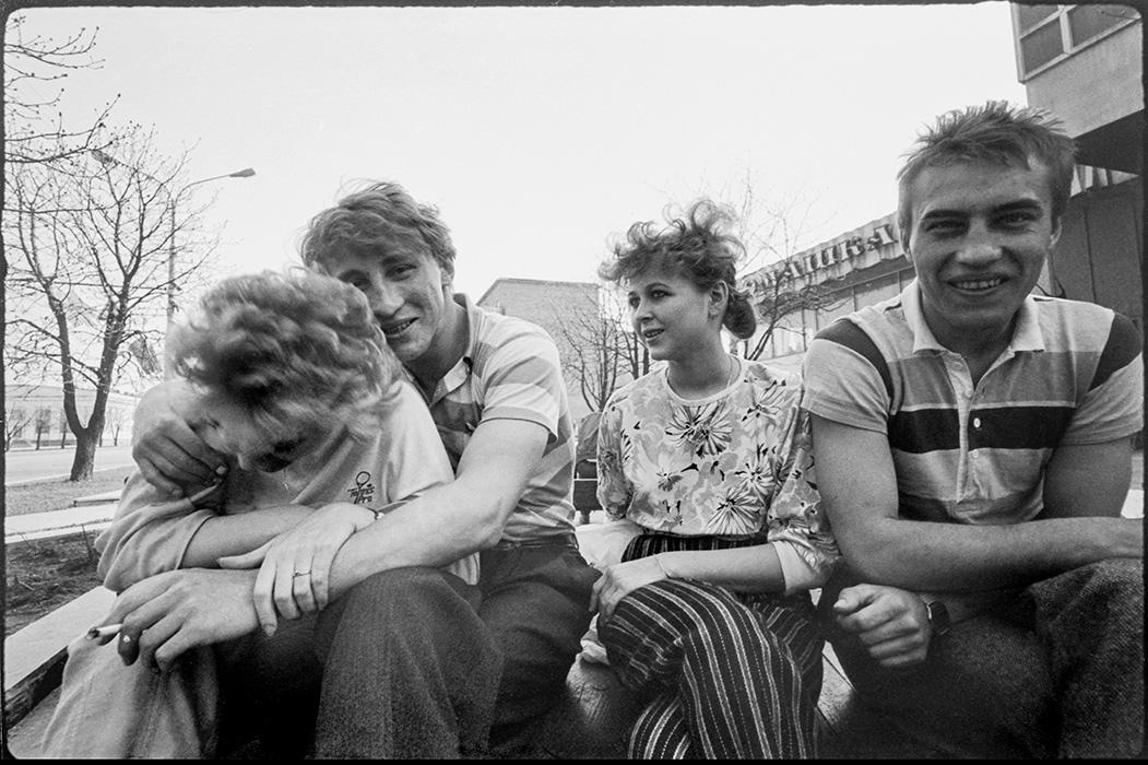 Компания на пр-те Машерова, Минск, 1987г.