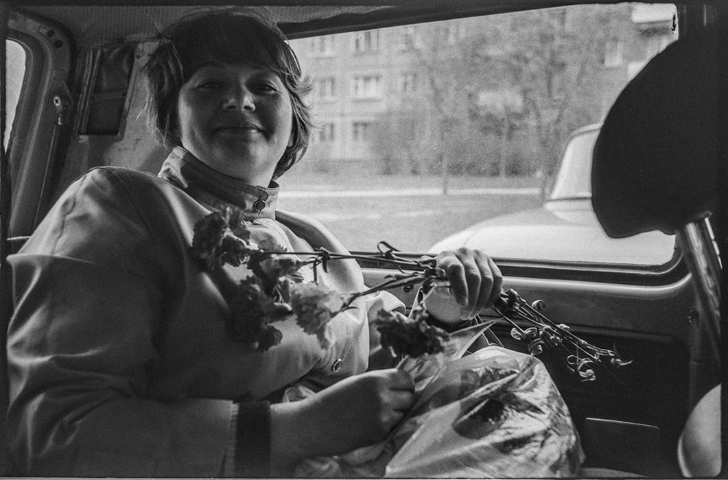В машине. Минск. 1983г.