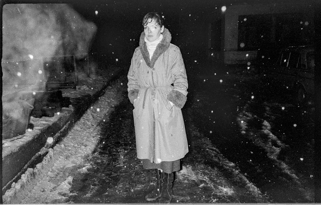 Ночной снег. Минск. 1987г.