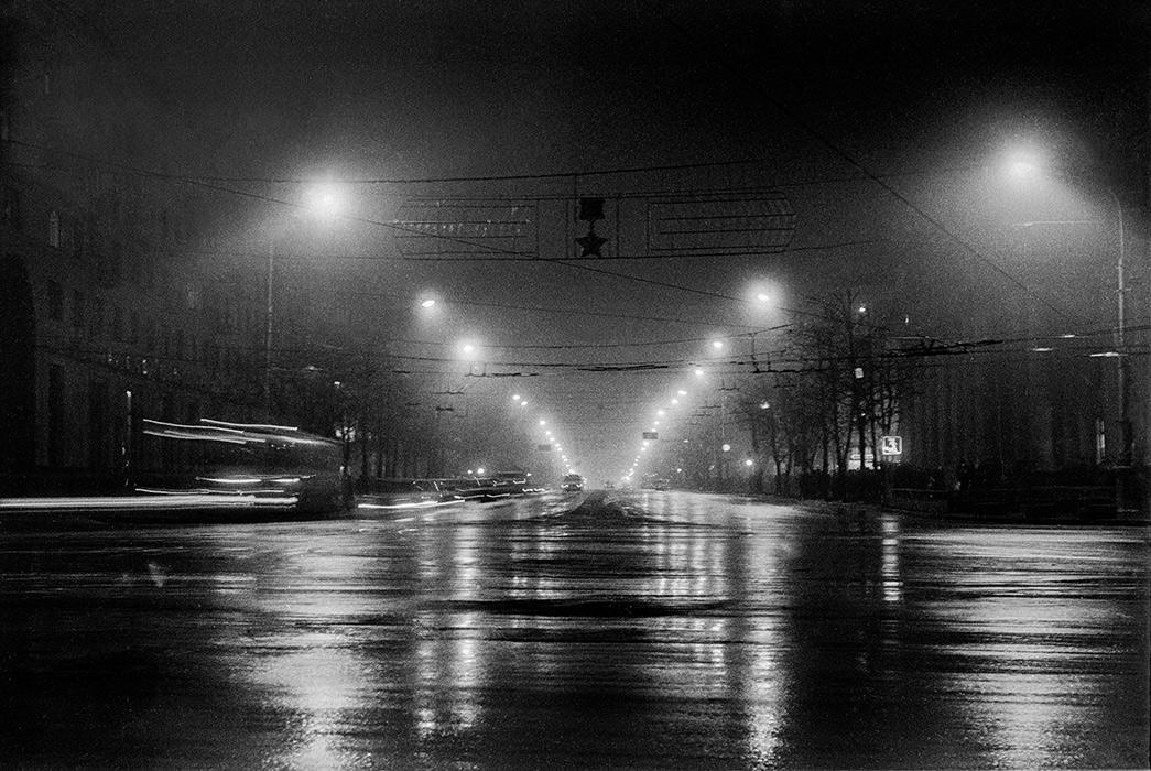 Вид на пр-кт Ленина от пл. Ленина. Минск. 1984г.