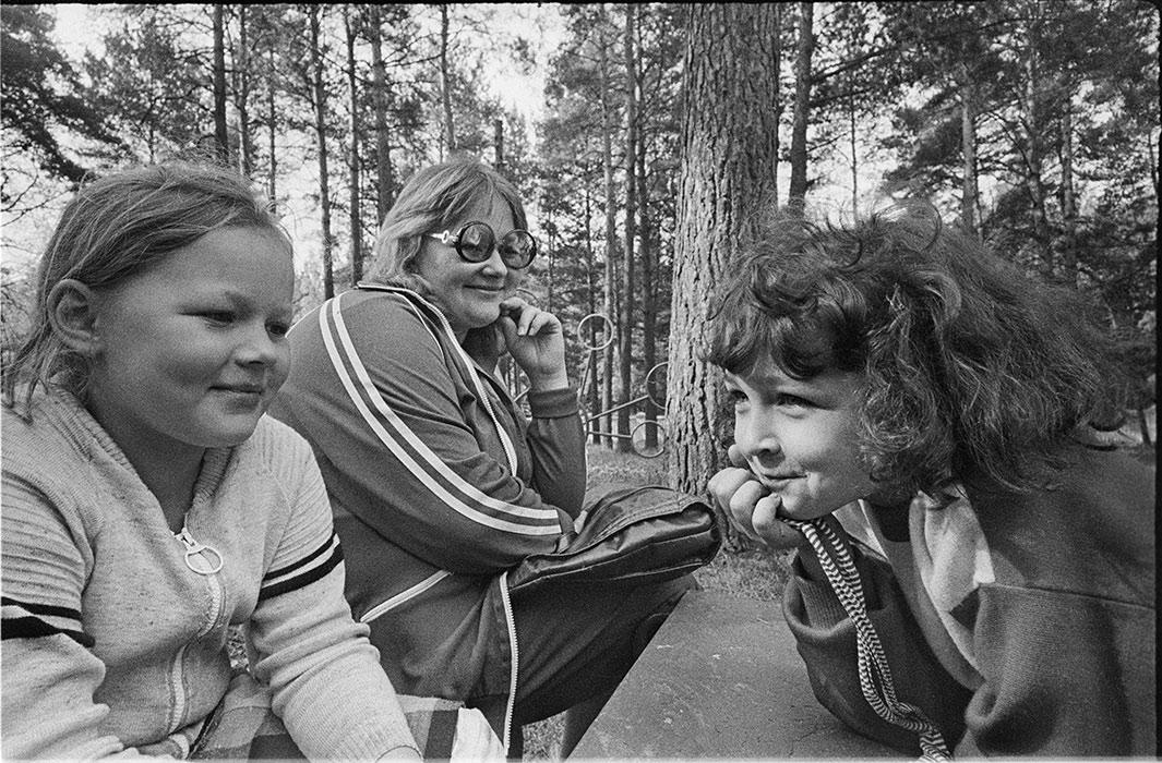 В пионерском лагере. д.Стайки. 1984г.