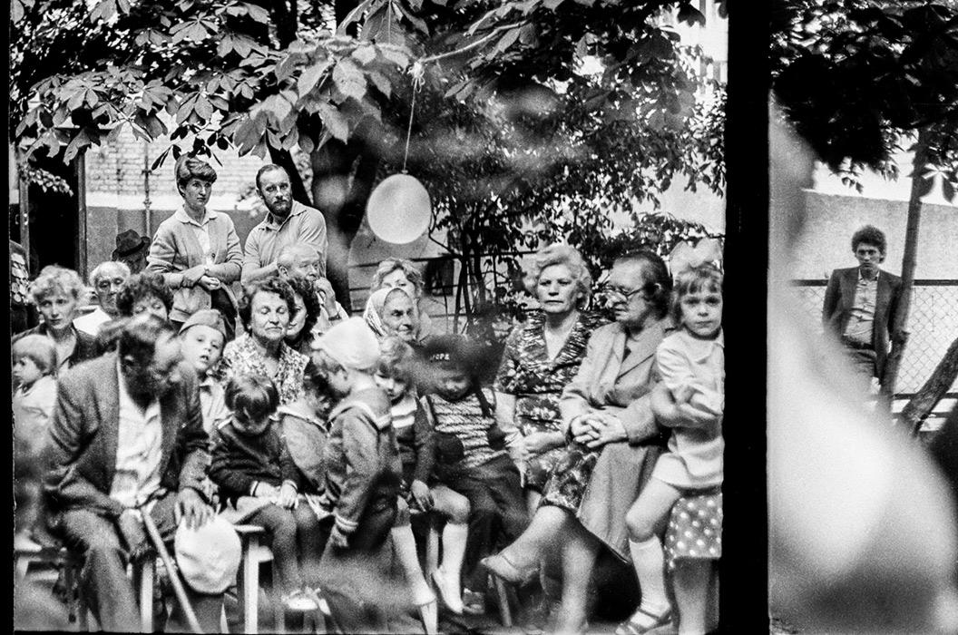 Во дворе дома №35 по ул.Мясникова. Концерт.Минск. 1987год