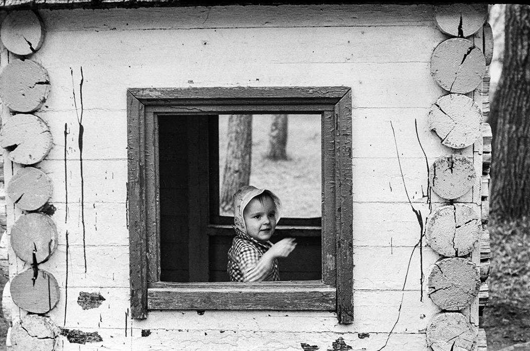 Даша. В парке Горького. Минск. 1986 год