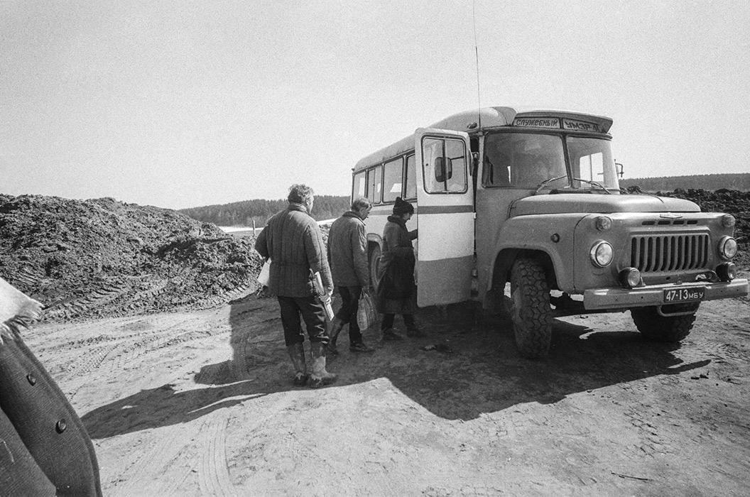 Строители автодороги Минск-Логойск, 1985 год