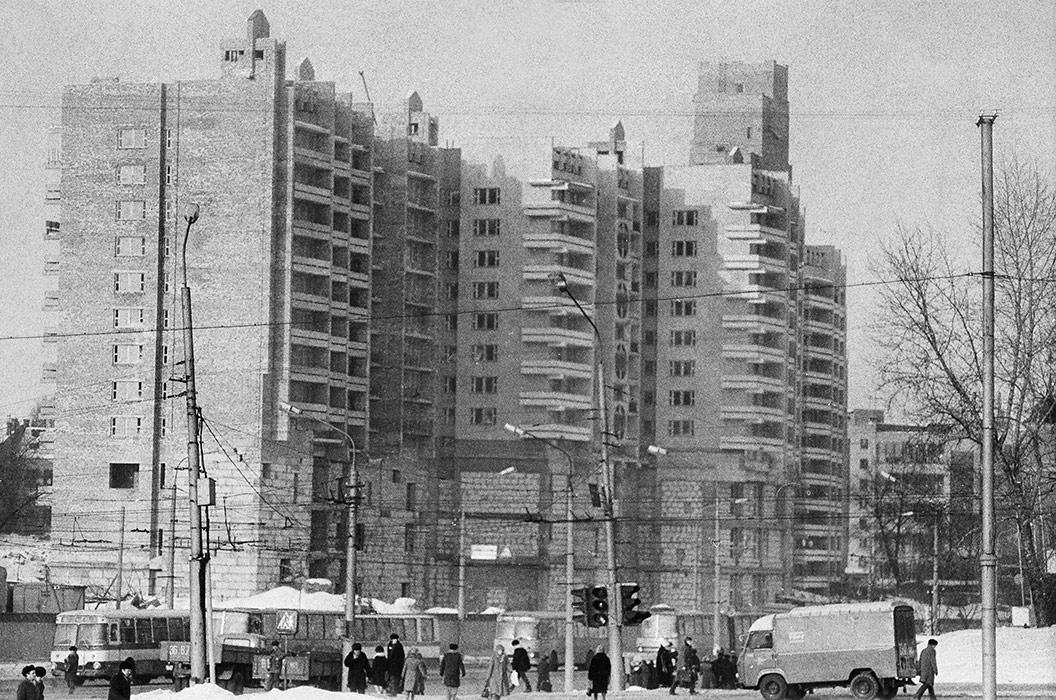 Строительство дома по ул.Немига, Минск, середина 80-х