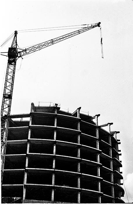Строительство гаражей Совмина по ул. Тимирязева, Минск, начало 80-х