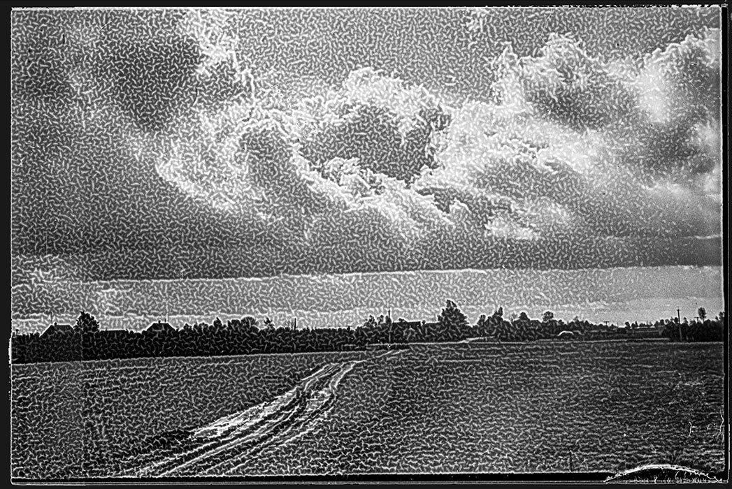 У деревни Марс. 1982год (ретикуляция)