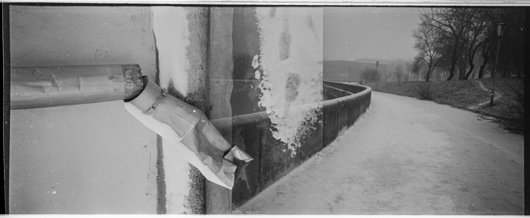 Набережная, город зимой, Минск, 1984год