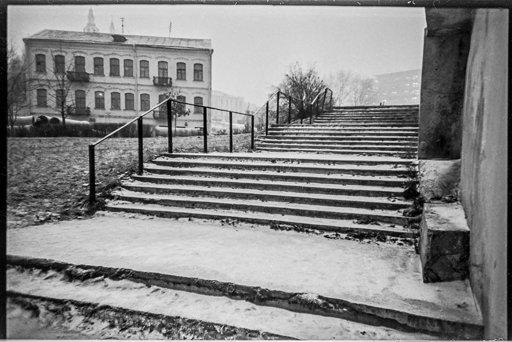 Лестница, спуск к р.Свислочь, ул.Торговая, Минск, 1984 год