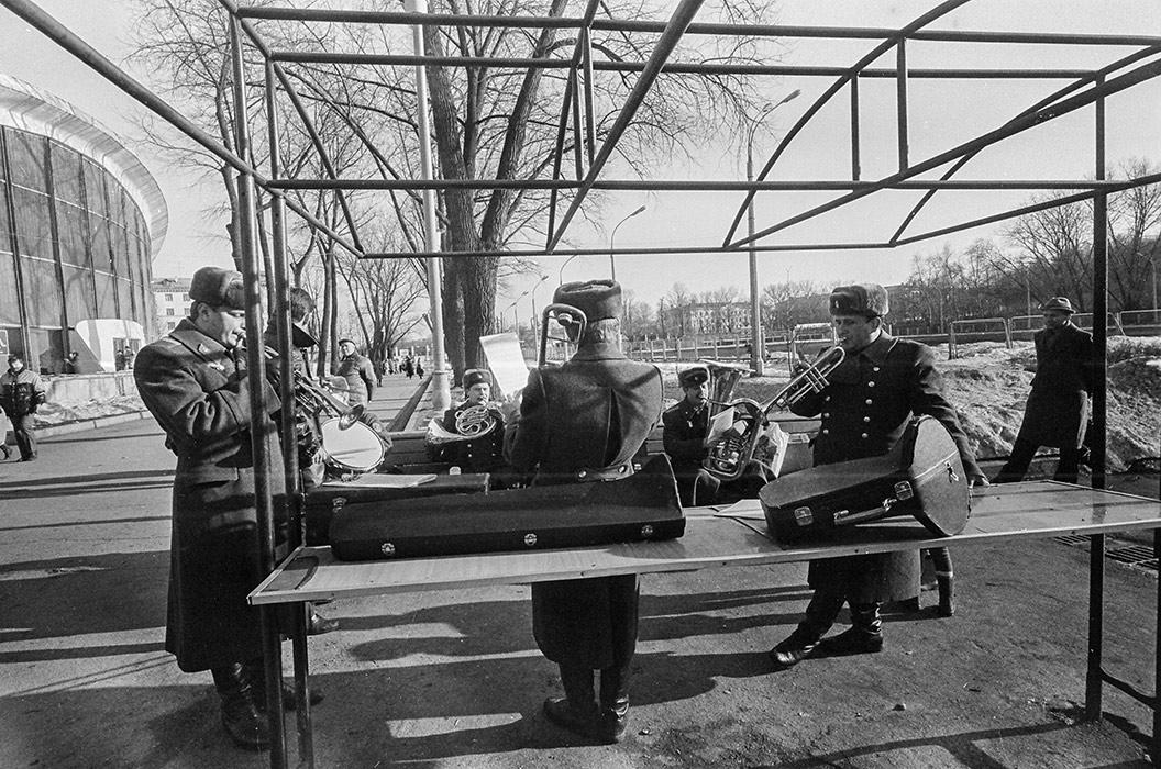 Проводы зимы. Парк Горького. Минск. 1986 год