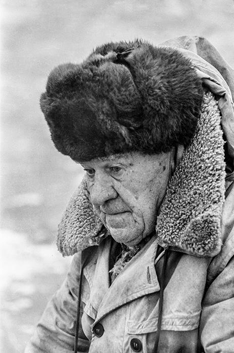 Портрет рыбака. Минское море, 1983 год