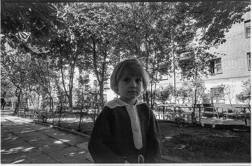 Во дворе дома по ул.Мясникова 34, Минск, 1986 год