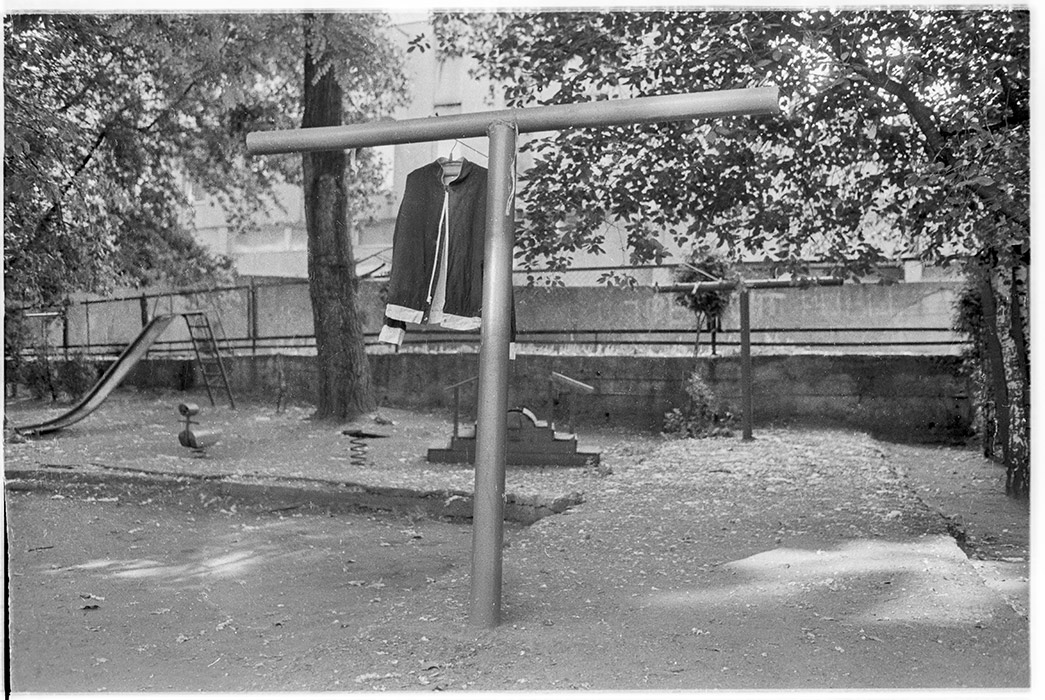 Дворик по ул. Мясникова д 34, Минск, 1985 год