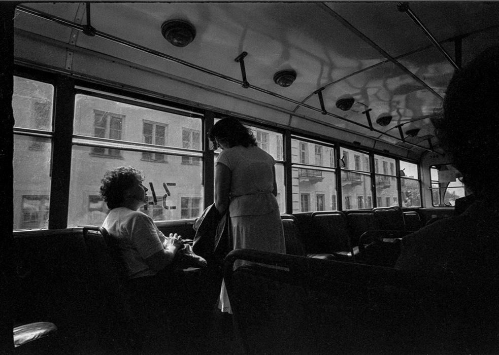В трамвае. Минск. 1987 год