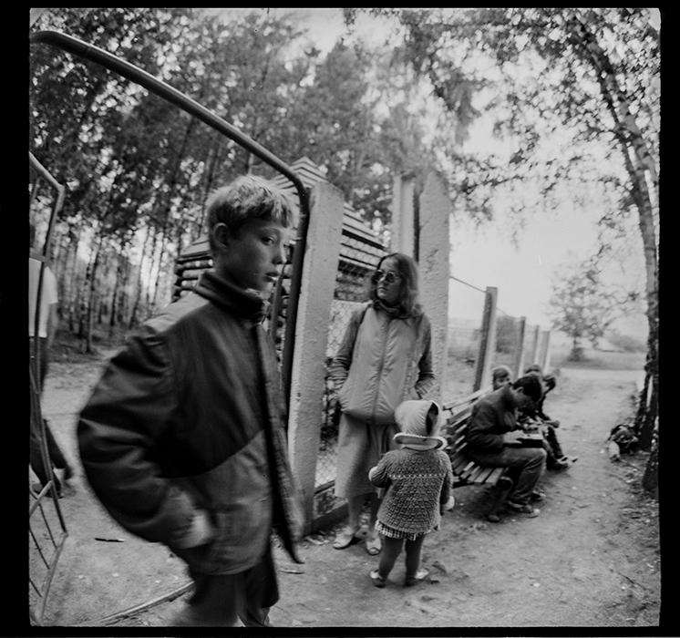Родительский день в пионерском лагере. Минский р-н, 1987год