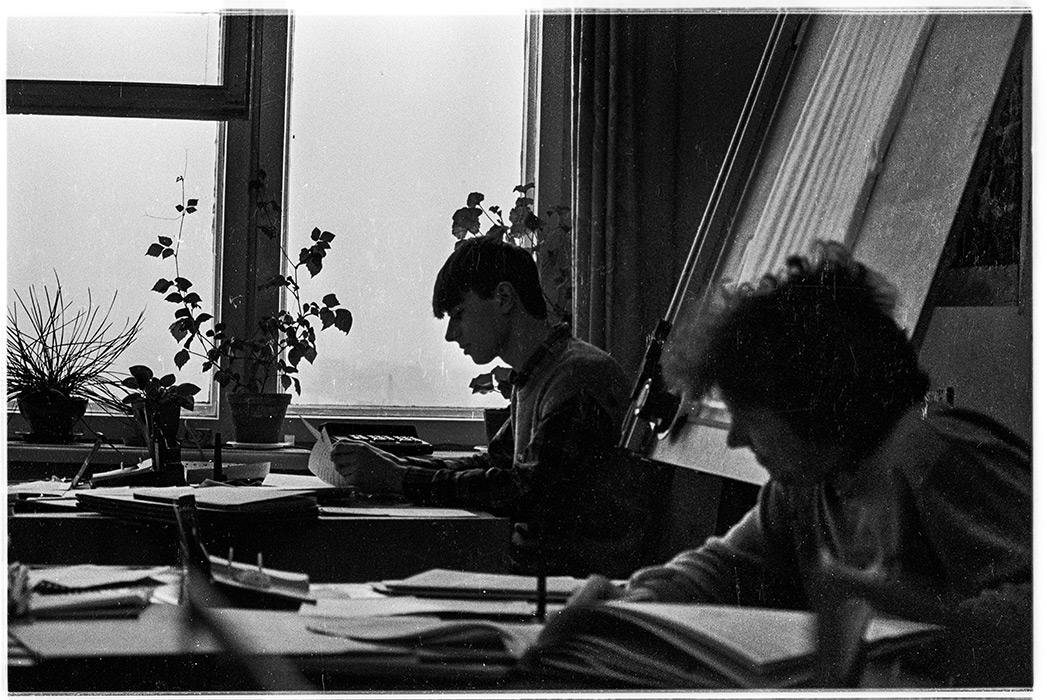 В БелдорНИИ, Минск, конец 80-х