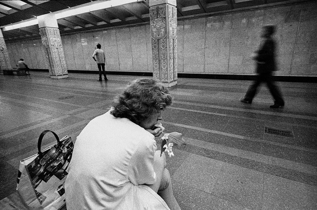 В метро. Минск, 1985год