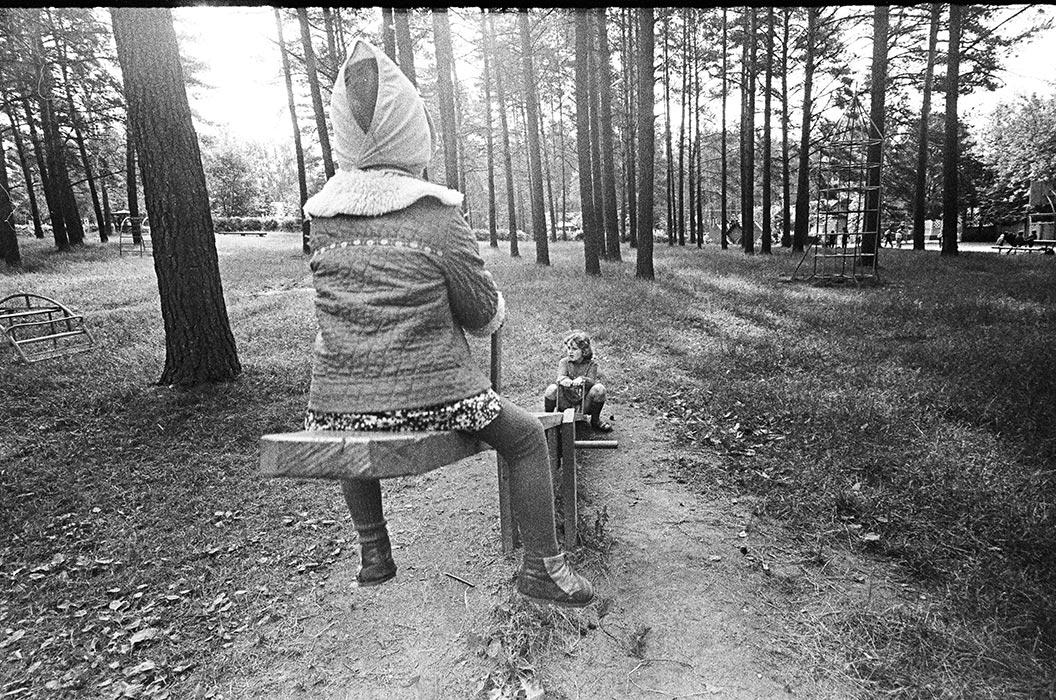Качели. Минский р-н, 1987 год