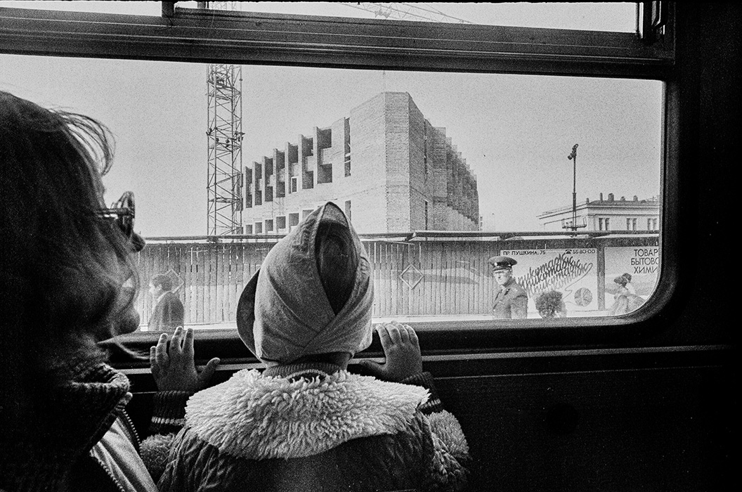 Из окна троллейбуса. Минск, вокзал, 1988 год
