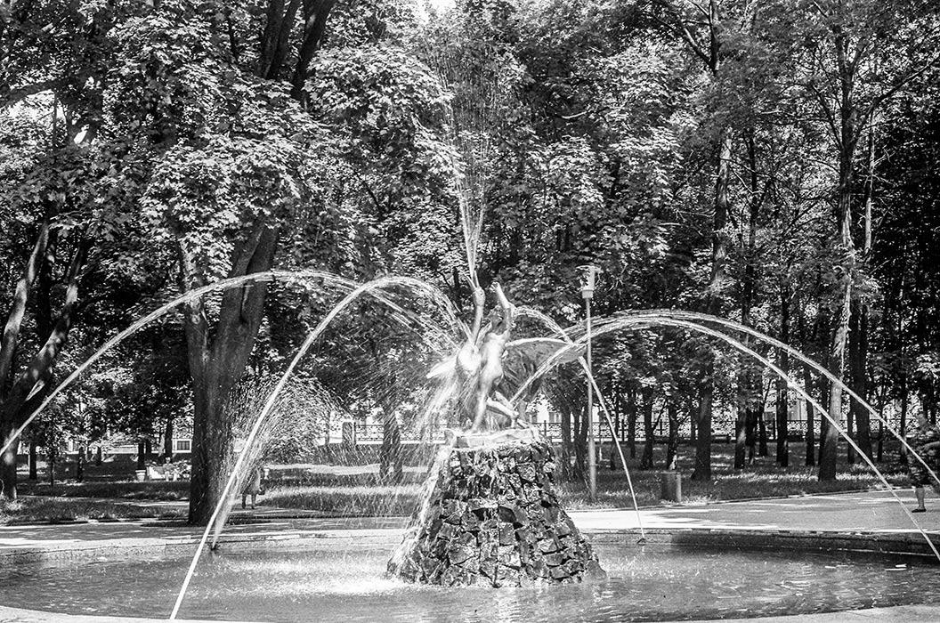 Фонтан. Минск, 1984 год