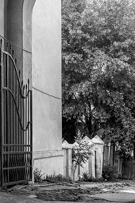 Арка дома на Ленинском проспекте. Начало 80-х