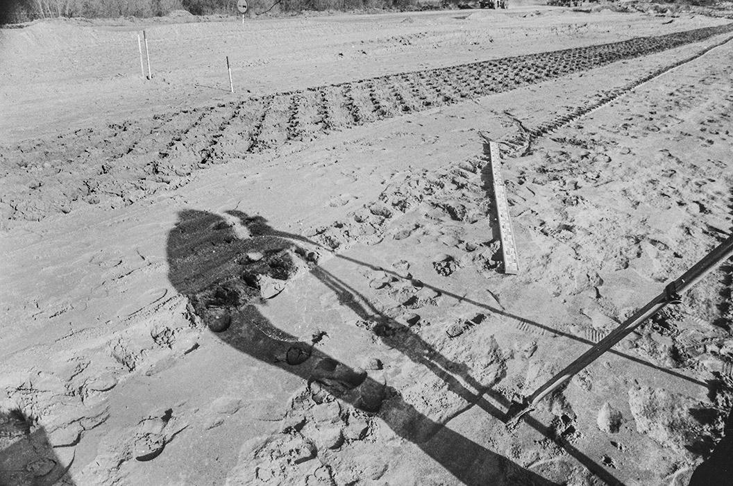 Тень, Минский р-н, строительство автодороги Москва-Минск-Брест, 1983 год