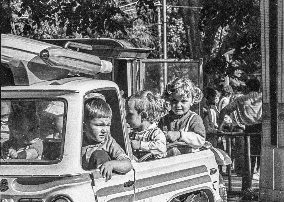 Карусель в парке. Минск, 1983 год