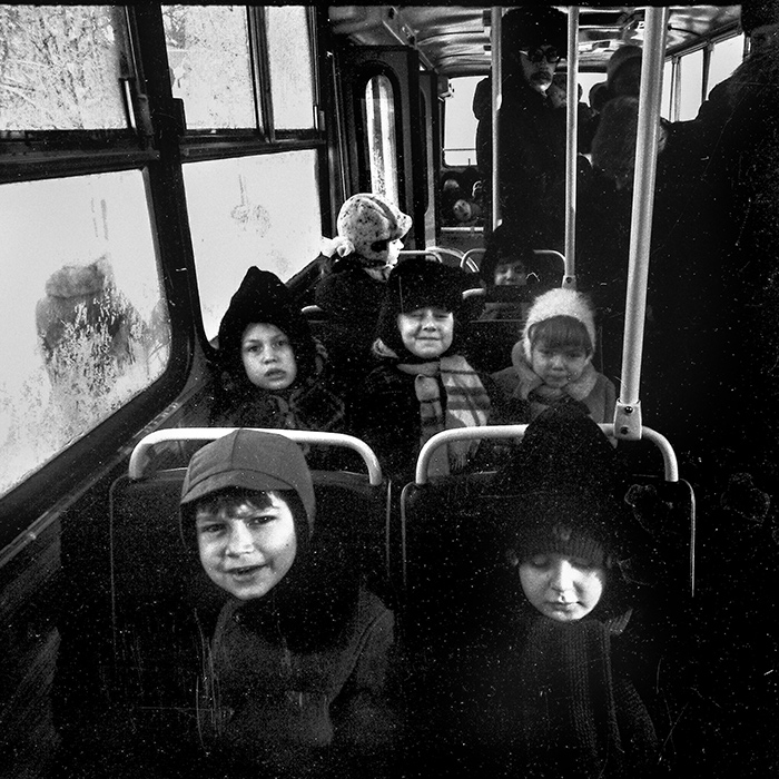 В автобусе. Минск. 1986 год