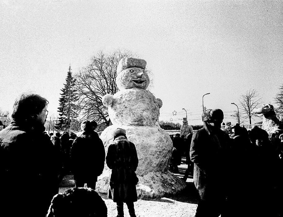 Проводы зимы в парке Горького. Минск, середина 80-х