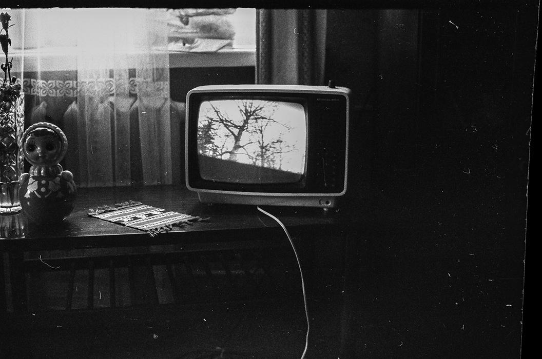 Композиция с тевизором. Минск, 1987 год