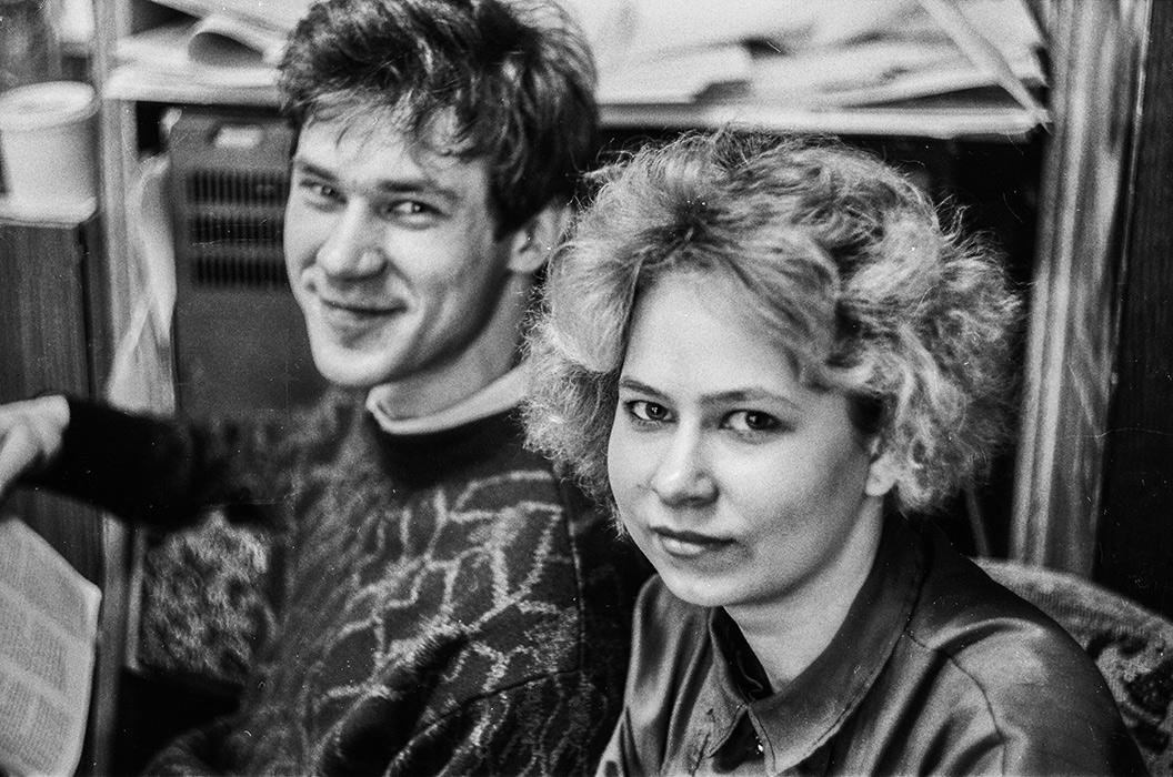 Двойной портрет. Минск, 1988год
