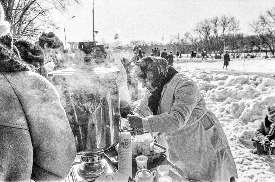 Проводы зимы. Парк Горького. Минск, середина 80-х
