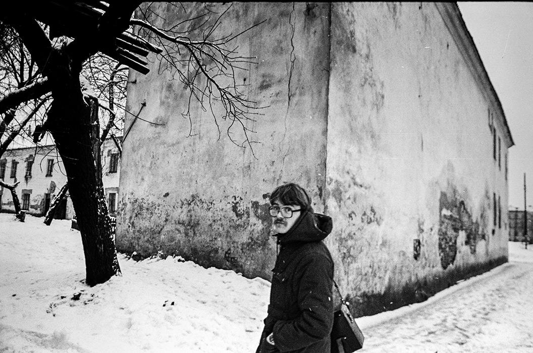 Евгений Залужный,в Верхнем городе. Минск, середина 80-х