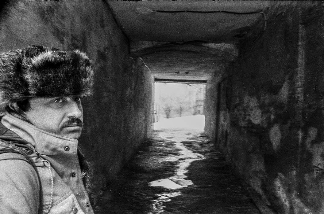 Геннадий Слесаренок в Верхнем городе, Минск, середина 80-х