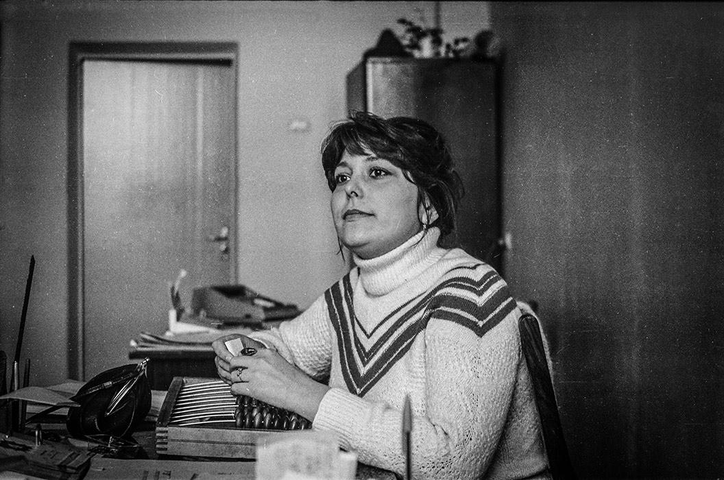 В бухгалтерии. Минск, 1983г.