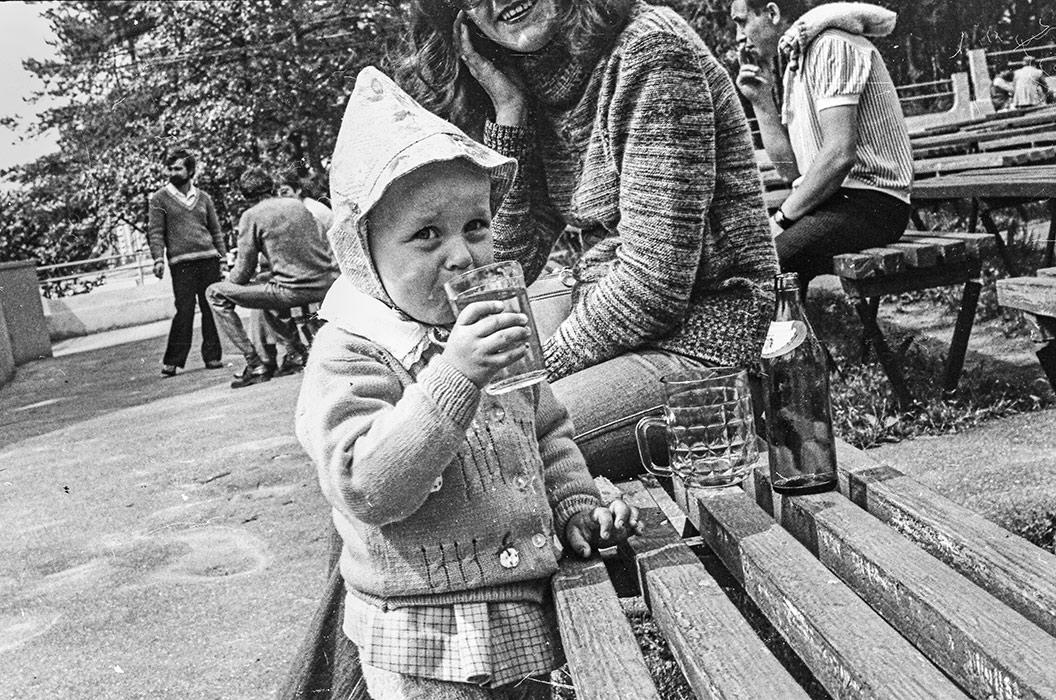 В парке в р-не тракторного завода. 1980 год