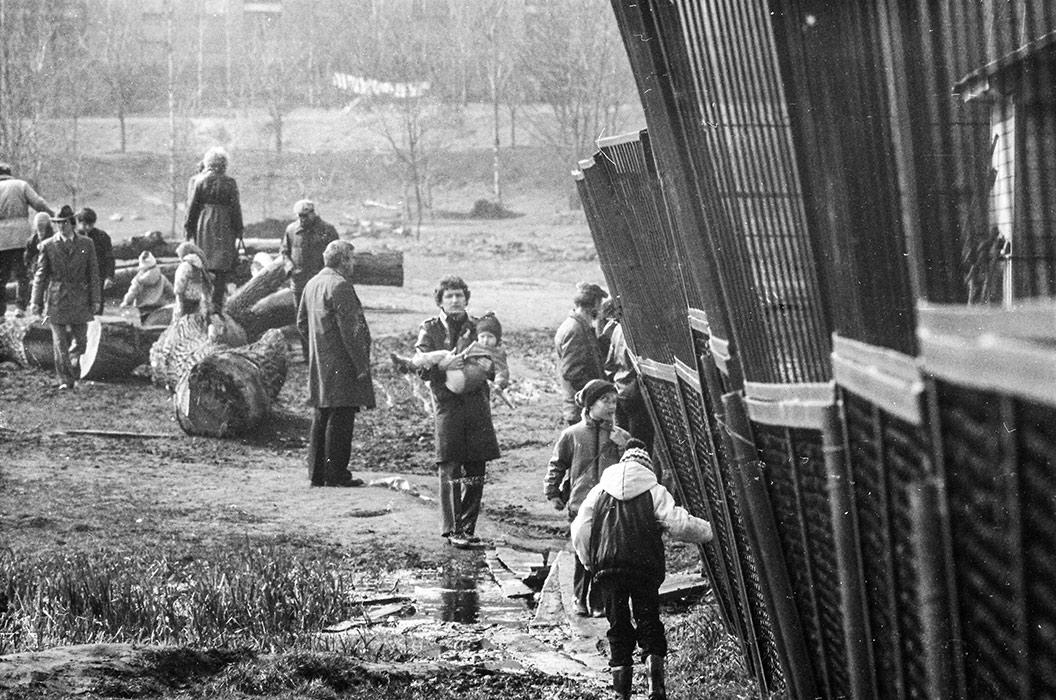 Проход к зоопарку. Чижовка, Минск, конец 80-х