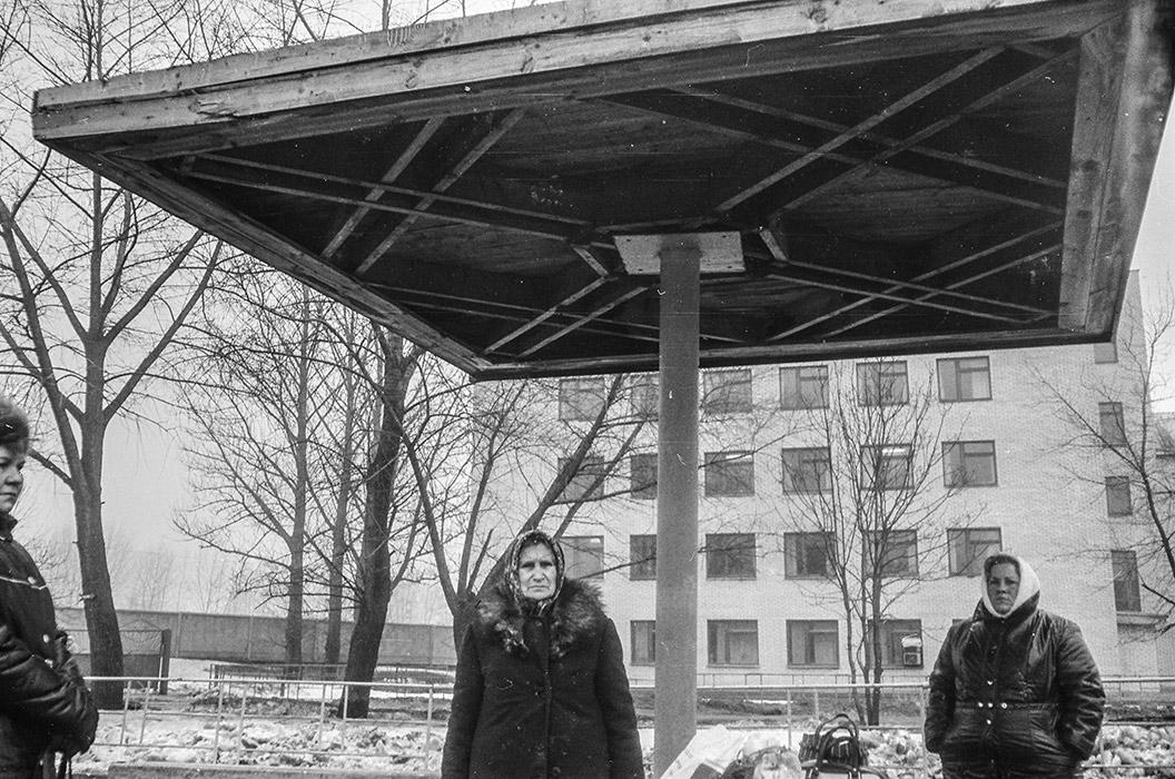 Автобусная остановка. Брест. Начало 80-х