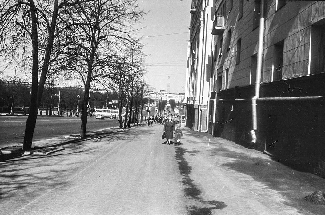 Проспект Ленина. Минск, середина 80-х