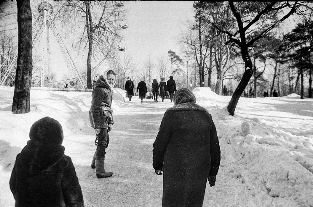 В парке Горького. Минск, середина 80-х