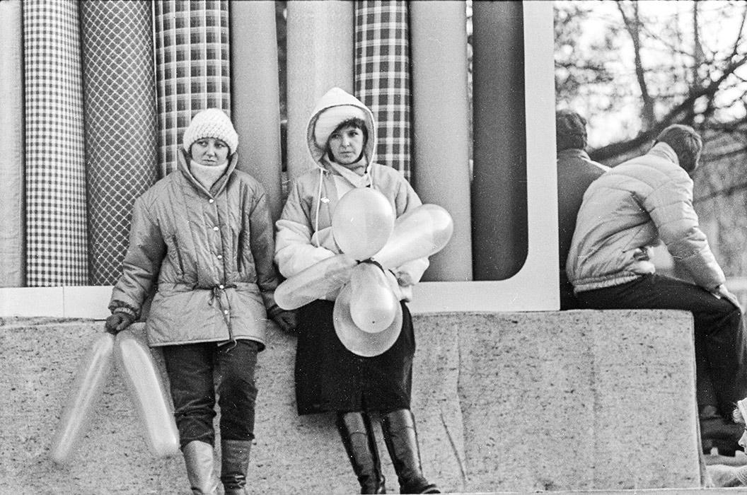 Во время демонстрации. Брест, начало 80-х